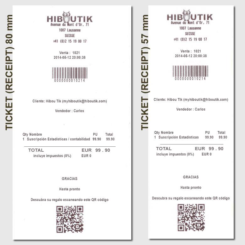Configurar Su Ticket De Compra Tpv Gratis